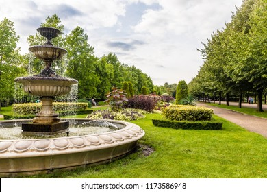 London. August 2018. A view of the Italian gardens in Regents Park in London