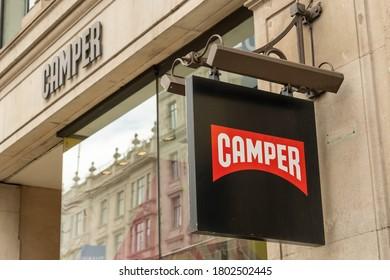 LONDON- AUGUST, 2020: Camper store on Regent Street, a Spanish footwear company