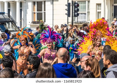 London. August 27 2018. during the Grand Parade, Notting Hill Carnival, London.