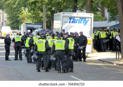 London.UK - August 28th 2017.A massive police and security operation is in place at this year's Notting Hill carnival.