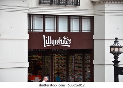 LONDON - AUGUST 6: A London Lillywhites store is shown here on August 6, 2015. Lillywhites was founded in 1863 and there are now ten stores in England, Kuwait, and Austria.