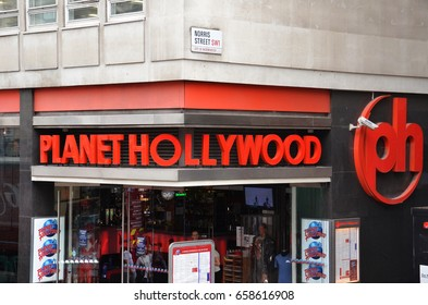 LONDON - AUGUST 6: The London Planet Hollywood location is shown here on August 6, 2015. There were nice locations worldwide as of December 2016.
