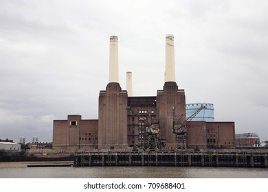 London Battersea Powerstation, located in Wandsworth,  was abandoned factory power station. This Iconic landmark is sold for 400 million pounds and being renovated for a shopping center.