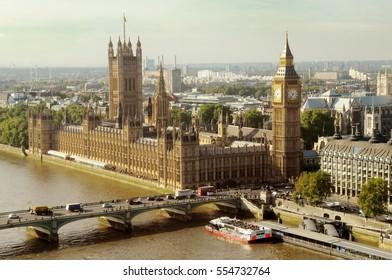 London, Big Ben, Houses of Parliament, River Thames, UK
