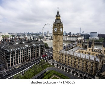 London with the Big Ben Tower clock the Skyline aerial 5