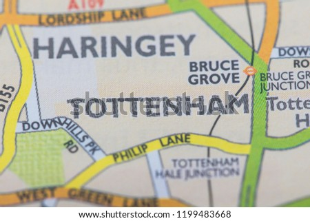 Tottenham London Map.London Borough Tottenham Location Map Stock Photo Edit Now