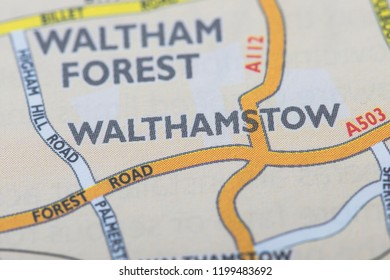 London borough of Walthamstow location map