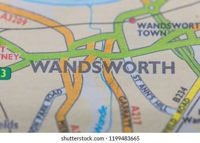 London borough of Wandsworth location map