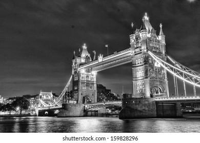 London Bridge by night.