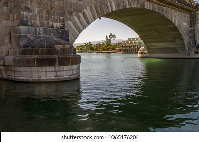The London Bridge in Lake Havasu City, Arizona.  The image shows one of the archways and detail of one of the support abutments