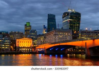 London Bridge over the Thames