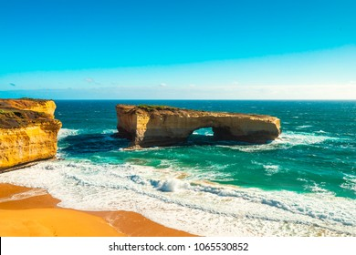 The London Bridge rock formation, Great Ocean Road, Victoria, Australia