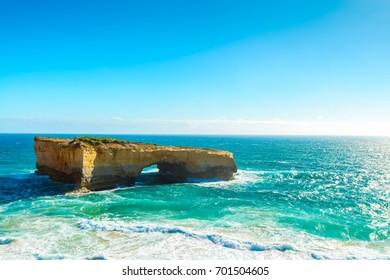 The London Bridge rock formation, Great Ocean Road, Victoria, Australia