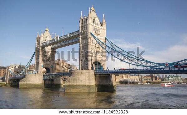 London Bridge Stands Western End Pool Stock Photo Edit Now 1134592328