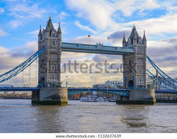 London Bridge Tower Bridge Daytime Stock Photo Edit Now 1132637639