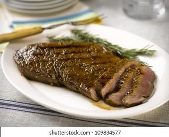 London Broil balsamic sliced