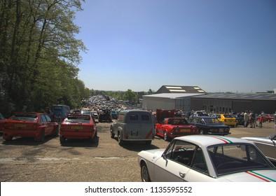London, Brokklands/United Kingdom - May, 5th 2018: Brooklands Italia/Italy classic & supercar day at Brooklands Museum, Weybridge