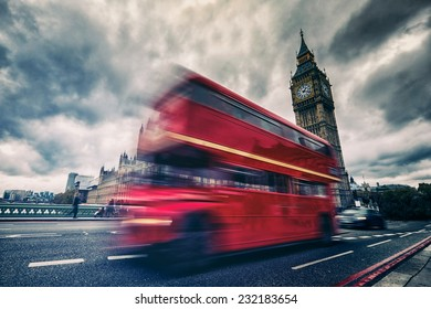 London bus abstract HDR effect