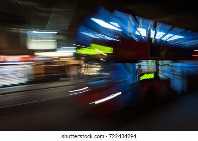 London Bus moving