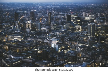 London business area - view from above