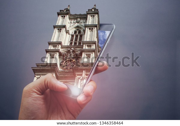 London Church 3d Pop Out Effect Stock Photo (Edit Now) 1346358464
