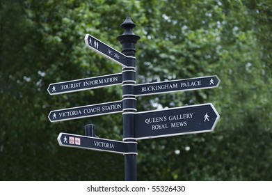 London City Directional Street Sign