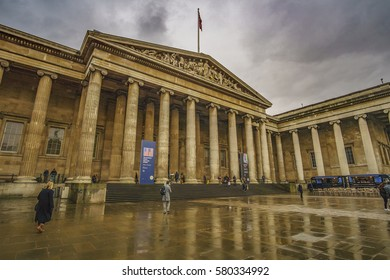 LONDON CITY - FEBRUARY, 2017: The British Museum, Great Russell street, London, England, United Kingdom, Europe