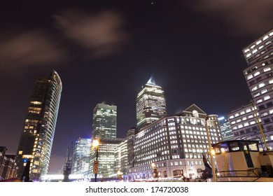 London City at night, United Kingdom