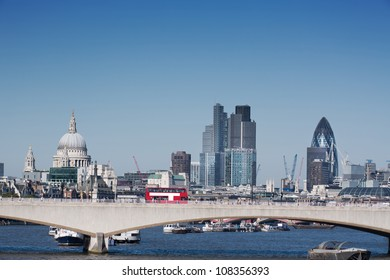 London city skyline with st pauls cathedral