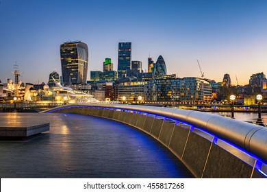 London cityscape at dawn.