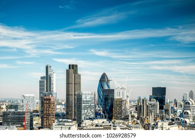 London Cityscape during summer