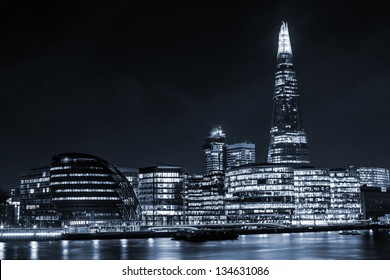 London Cityscape, including City Hall, toning