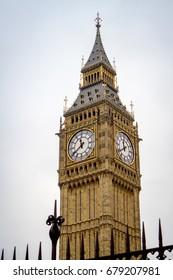London Clock behind Gate