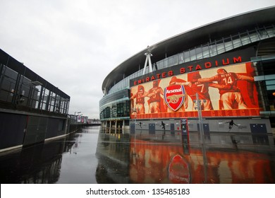 LONDON - DEC 12: One day before Arsenal FC meet W.B.A. in Barclays Premier League at Emirates Stadium in London, England on Dec 12, 2012.