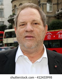 LONDON - DEC 6, 2013: Harvey Weinstein seen at BBC on Dec 6, 2013 London