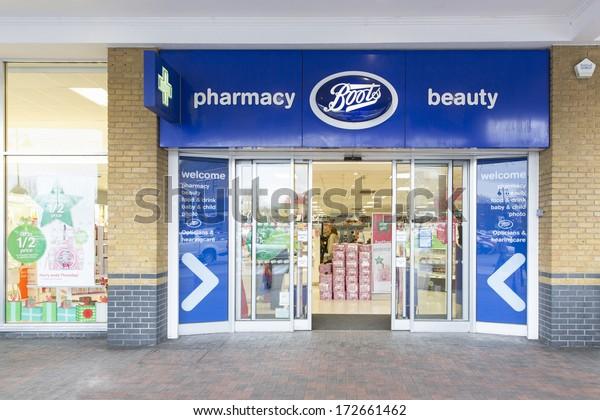 London December 13 Branch Boots December Stock Image