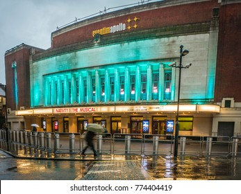 LONDON- DECEMBER, 2017:  Eventim Apollo aka The Hammersmith Apollo, a large music and event venue in Hammersmith London