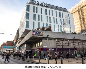 LONDON- DECEMBER, 2017: The Lyric Theatre on King Street in Hammersmith London