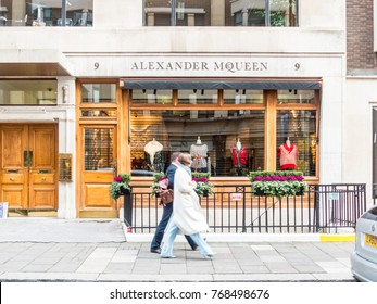 London, December 2017. A view of the Alexander McQueen store on Saville Row, in Mayfair.