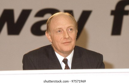 LONDON - DECEMBER 4: Rt.Hon. Neil Kinnock, Leader of the Labour party, attends a press conference on December 4, 1990 in London. He was party Leader from 1983 until 1992.