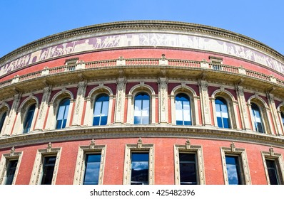 London, detail of the facade of the Royal Albert Hall