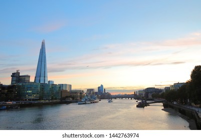 London downtown and River Thames cityscape London England