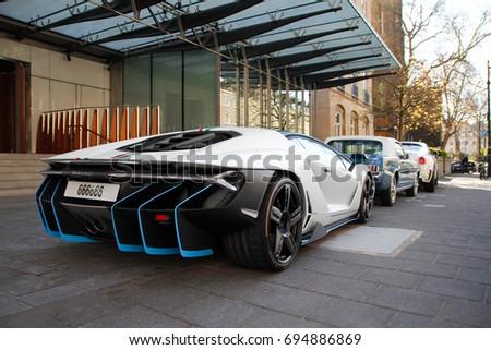 London England 020717 Lamborghini Centenario Hypercar Stock Photo