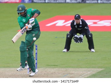 LONDON, ENGLAND. 05 JUNE 2019: Mahmudullah of Bangladesh plays a shot during the Bangladesh v New Zealand, ICC Cricket World Cup match, at the Kia Oval, London, England.