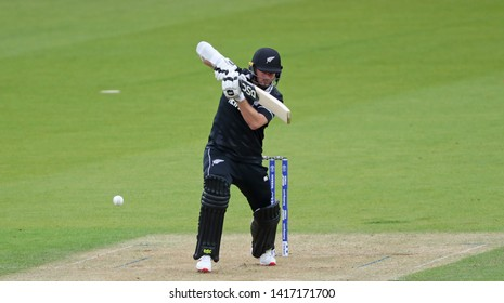 LONDON, ENGLAND. 05 JUNE 2019: Colin Munro of New Zealand plays a shot during the Bangladesh v New Zealand, ICC Cricket World Cup match, at the Kia Oval, London, England.