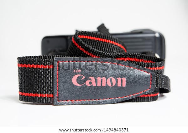 Canon Black//RED Strap