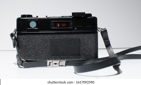 london, england, 05/05/2018 A yashica GT japanese 1960s 1970s range finder film camera with a yashica yashinon dx 45mm lens. Old style hipster nostalgic street photography fashion.