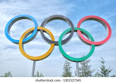 London, England - 05.09.2016: Queen Elizabeth Olympic Park, in London, England, United Kingdom, is a sporting complex built for the 2012 Summer Olympics and the Paralympics