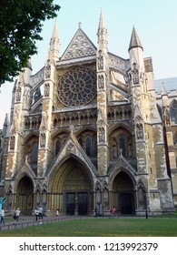 London / England - 08.10.2012: North entrance of Westminster Abbey.