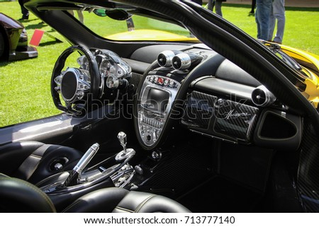 London England 090617 Interior Pagani Huayra Stock Photo Edit Now